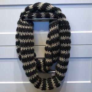 Chunky striped sweater infinity scarf